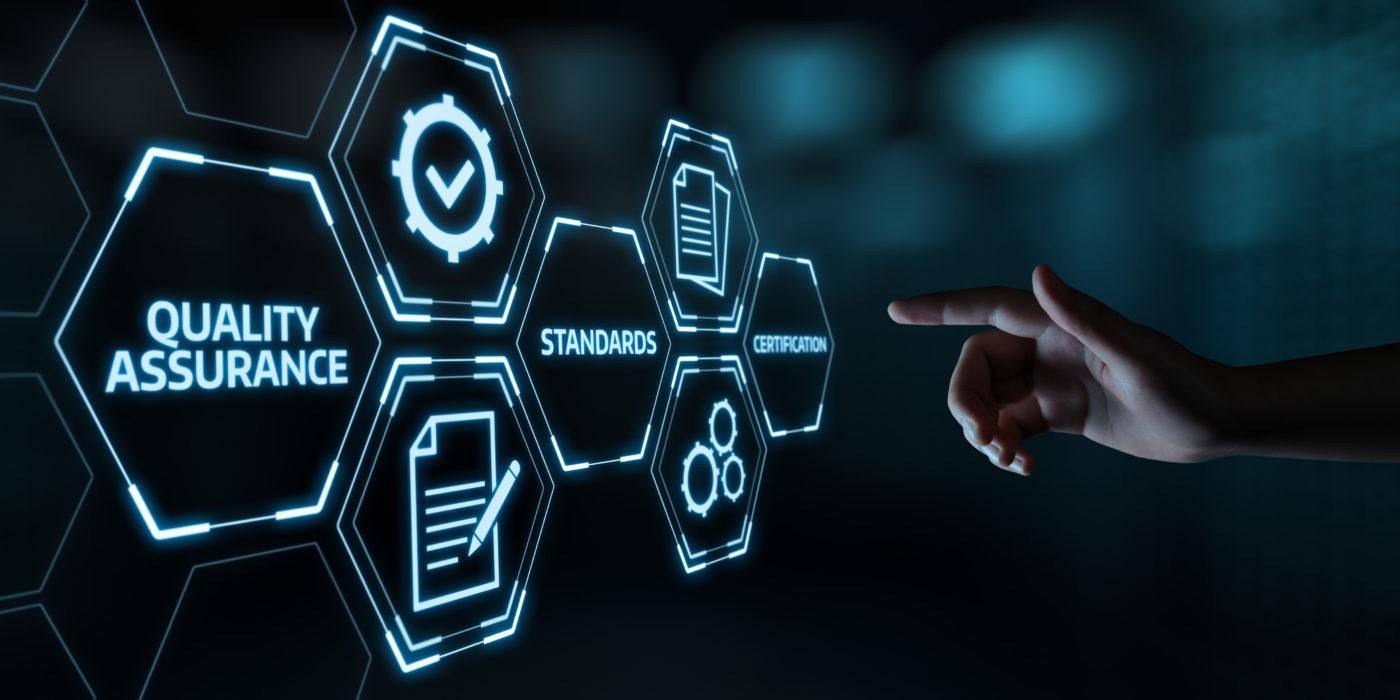 Quality Assurance Service Guarantee Standard Internet Business Technology Concept